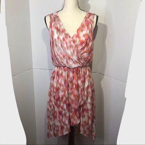 Bisou Bisou Blouson Multicolor Faux Wrap Dress 4